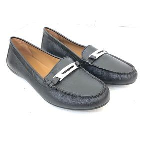 NWOB Coach Black Leather Loafers Size 8